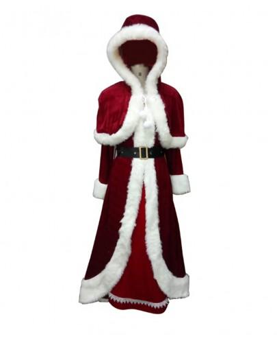 Deluxe Classic Mrs. Santa Claus Costume HC-023