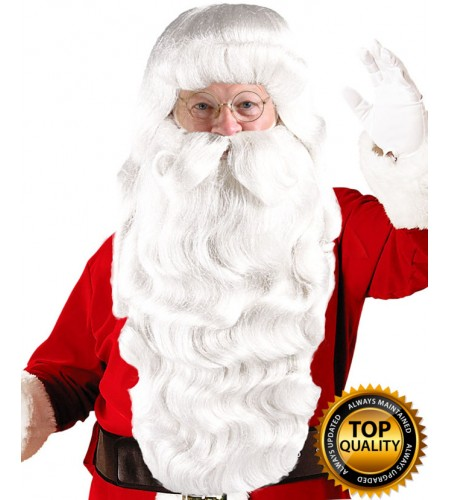 Xmas Party Super Santa Claus Wig and Beard Set Deluxe HX-003