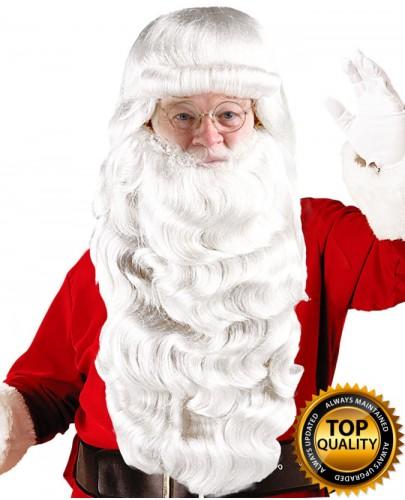 Mens Santa Claus Long Wig and Beard Set Deluxe HX-004