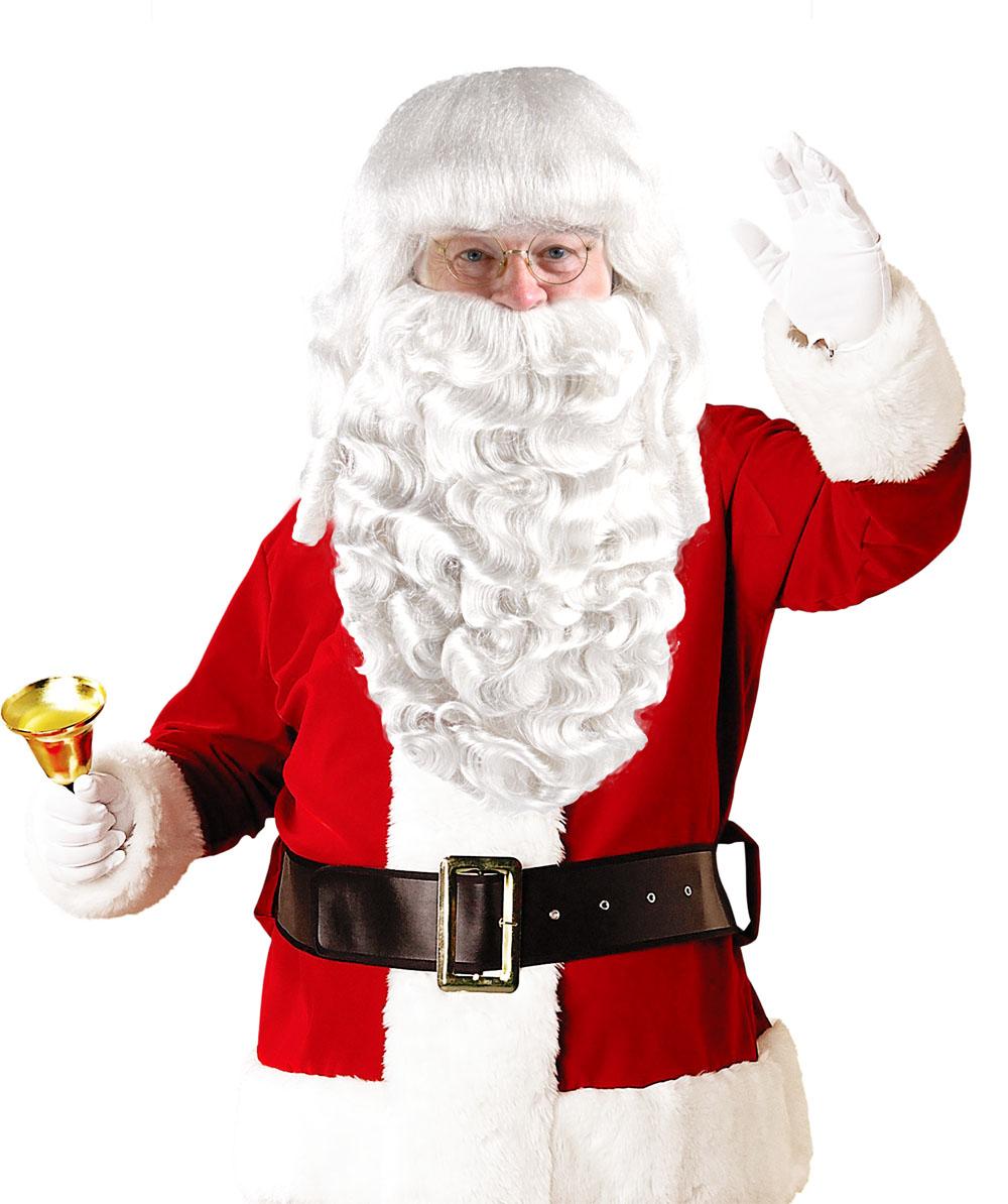 Mens Father Xmas Santa Claus Wig and Beard Set Deluxe HX-005 cd2153b83c
