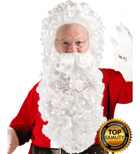 Curly Santa Claus Wig and Beard Set Deluxe HX-006
