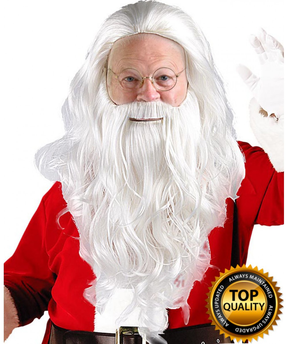 Adult Mens Santa Claus Wig and Beard Set Deluxe HX-011 45933c7e8
