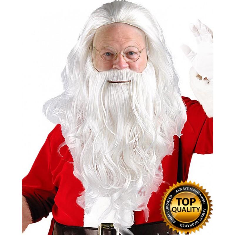 sc 1 st  ChristmasPartyOnline.com & Adult Mens Santa Claus Wig and Beard Set Deluxe HX-011