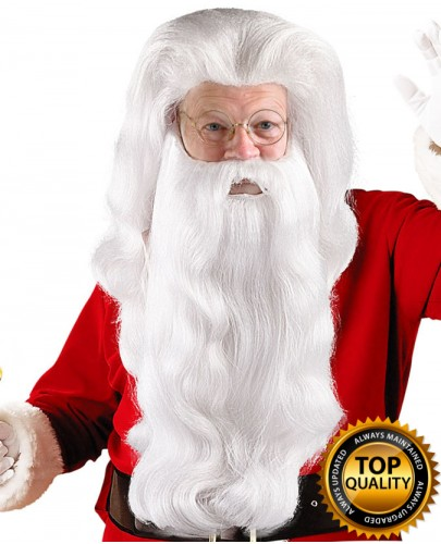 Super Santa Claus Wig and Beard Set Deluxe HX-017