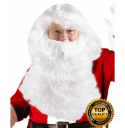 Fancy Santa Claus Wig and Beard Set Deluxe HX-018