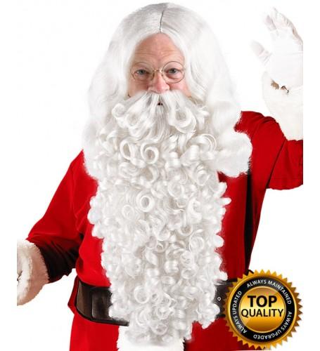 Mens Santa Claus Wig and Beard Set Deluxe HX-019