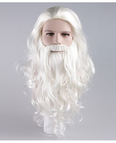 Adult Mens Santa Claus Wig and Beard Set HX-011
