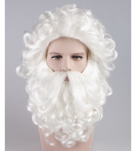 Professional Father Xmas Santa Claus Wig and Beard Set HX-014
