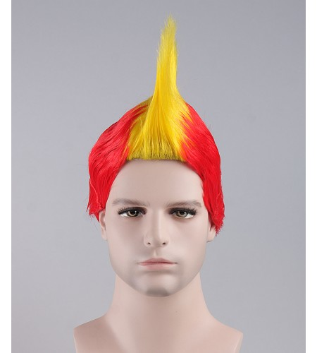 Yellow / Red Mohawk Wig