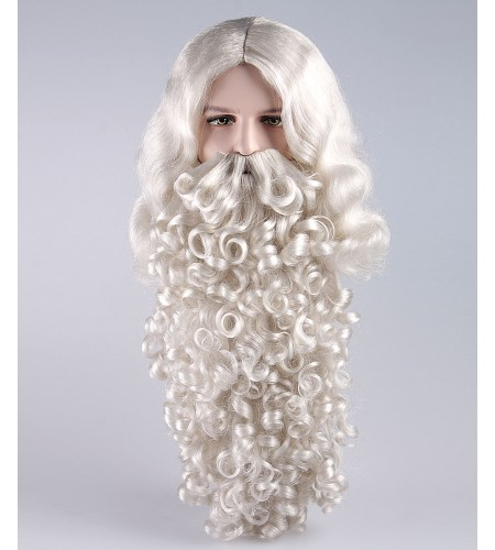 Mens Santa Claus Wig and Beard Set HX-019
