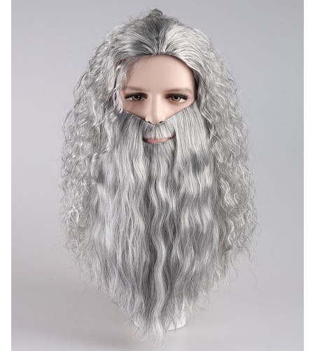 Santa Claus Grey Wig and Beard Set HX-020