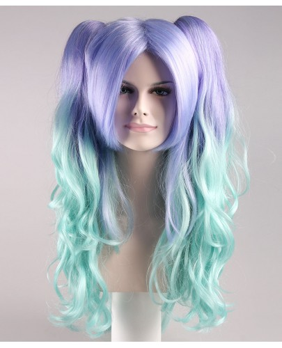 Allure Wavy Purple Blue Wig
