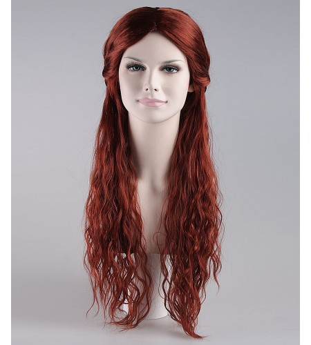 Gilded Goddess Reddish Brown Wig