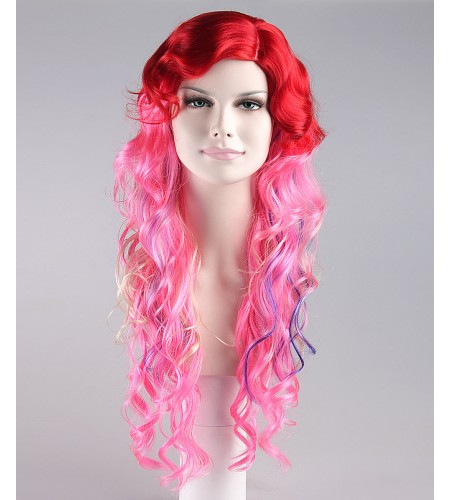 Red-Pink Sugar and Spice Wig
