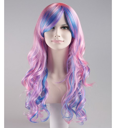 Rave Candy Purple & Blue Adult's Wig