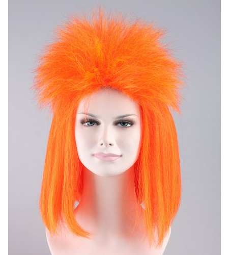 Orange Punk Girl Mullet Wig