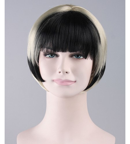 Black White Swing Bob Wig